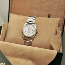 Rolex Oyster Perpetual Date Acero 34mm Blanco Romanos