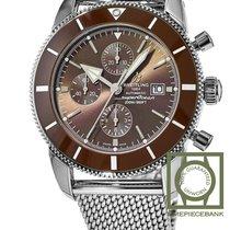 Breitling Superocean Héritage II Chronographe Acier 46mm Bronze Sans chiffres