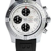 Breitling Colt Chronograph Automatic Staal 44mm Wit Geen cijfers
