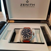 Zenith Pilot Type 20 GMT Acier 48mm Noir Arabes France, morteau
