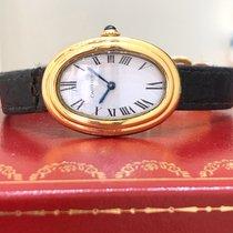 Cartier Baignoire Or jaune 23mm Blanc Romains France, Paris