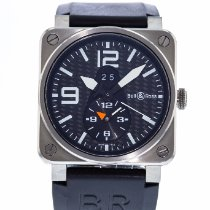 Bell & Ross Titanium Automatic Black 42mm pre-owned BR 03-51 GMT