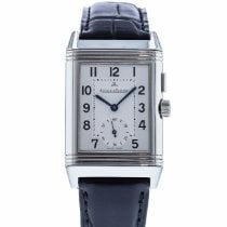 Jaeger-LeCoultre Reverso Duoface pre-owned 26mm Silver Leather