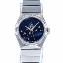 Omega Constellation Ladies Acier 27mm Bleu