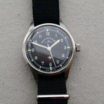 Zeno-Watch Basel Stahl 37mm Handaufzug PRS-53-a1-manual gebraucht