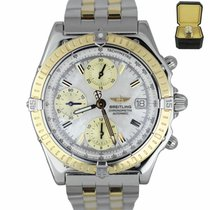 Breitling Chronomat pre-owned 39mm Mother of pearl Chronograph Date Fold clasp