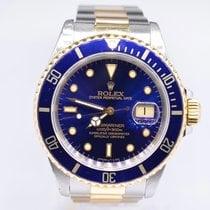 Rolex Submariner Date Gold/Steel 40mm Blue No numerals United Kingdom, London Colney Hertfordshire