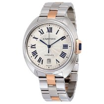 Cartier Clé de Cartier Steel 40mm Silver Roman numerals United States of America, New York