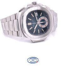 Patek Philippe Steel Automatic Blue No numerals 40.5mm pre-owned Nautilus