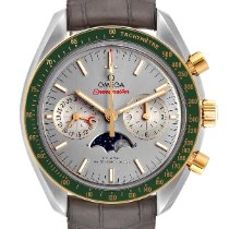 Omega Speedmaster Professional Moonwatch Moonphase pre-owned 44.2mm Grey Moon phase Chronograph Date Tachymeter Leather