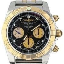 Breitling Chronomat 44 pre-owned 44mm Black Chronograph Date Gold/Steel