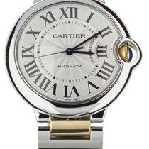 Cartier Ballon Bleu 36mm Золото/Cталь 36mm Cеребро