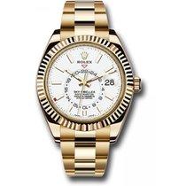 Rolex Sky-Dweller Or jaune 41mm Blanc