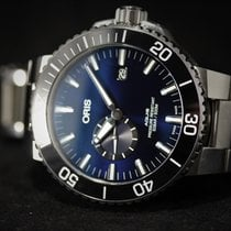 Oris Aquis Small Second Steel 45.5mm Blue No numerals