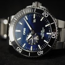Oris Steel Automatic Blue No numerals 45.5mm pre-owned Aquis Small Second