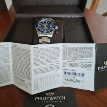 Philip Watch Caribe Steel 42mm Blue No numerals