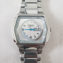 Diesel pre-owned Quartz 48mm Silver Mineral Glass 10 ATM