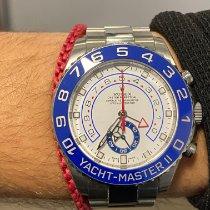 Rolex Yacht-Master II occasion 44mm Blanc Chronographe GMT Acier