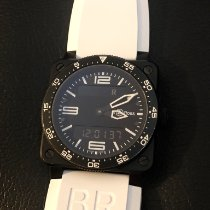 Bell & Ross BR 03 pre-owned 42mm Black Chronograph Date GMT Rubber