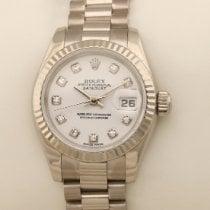 Rolex Lady-Datejust Stål 26mm Blå
