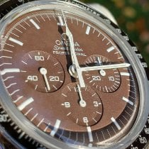 Omega Speedmaster Professional Moonwatch Steel 42mm Brown No numerals United States of America, Illinois, Plainfield