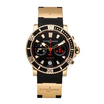 Ulysse Nardin Rose gold Automatic Black No numerals 42.7mm pre-owned Maxi Marine Diver