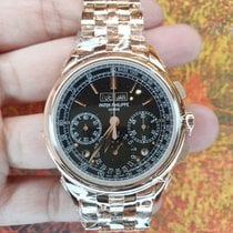 Patek Philippe Perpetual Calendar Chronograph Rose gold 41mm Black No numerals