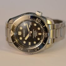 Seiko Marinemaster Steel 44mm Black No numerals