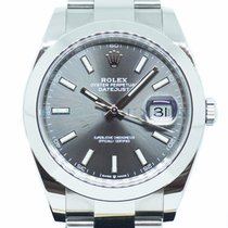 Rolex Datejust Steel 41mm Grey No numerals Singapore, Singapore