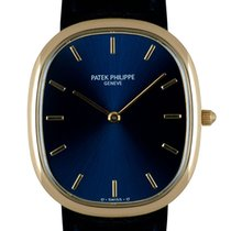 Patek Philippe Golden Ellipse Желтое золото 31mm Синий