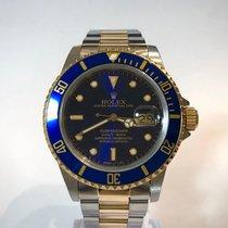 Rolex Submariner Date Gold/Stahl 40mm Blau Keine Ziffern Schweiz, Chiasso