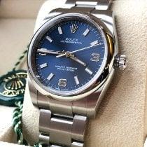 Rolex Oyster Perpetual 34 Aço 34mm Azul Árabes