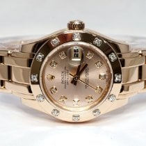 Rolex Lady-Datejust Pearlmaster Rose gold 29mm Pink Roman numerals
