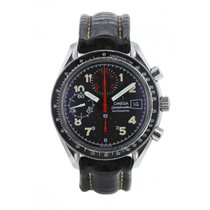 Omega Speedmaster Reduced pre-owned 39mm Black Chronograph Leather