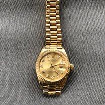 Rolex Lady-Datejust Or jaune 26mm Blanc Sans chiffres France, Pertuis