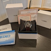Seiko Prospex pre-owned 38mm Black Date Buckle