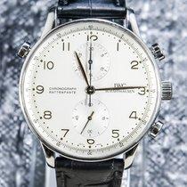 IWC Portuguese Chronograph IW371202 Muy bueno Acero 41mm Cuerda manual