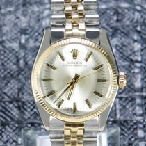 Rolex Oyster Perpetual 31 Gold/Steel 31mm Silver No numerals