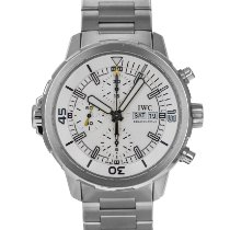 IWC Steel Automatic Silver 44mm pre-owned Aquatimer Chronograph