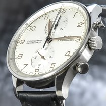 IWC Portuguese Chronograph occasion 41mm Argent Chronographe Double chronographe Cuir de crocodile