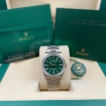 Rolex Oyster Perpetual 36 Steel 36mm Green No numerals United States of America, New York, New York