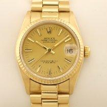 Rolex Datejust 68278 Meget god Gult guld 31mm Automatisk