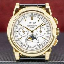 Patek Philippe Perpetual Calendar Chronograph Yellow gold 40mm Silver