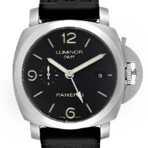 Panerai Luminor 1950 3 Days GMT Automatic pre-owned 44mm Black Date GMT Rubber