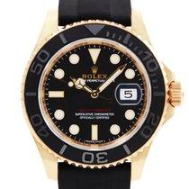 Rolex Or rose Remontage automatique Noir Sans chiffres 40mm occasion Yacht-Master 40