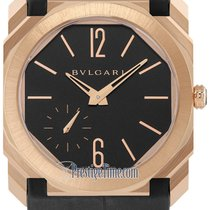 Bulgari Rose gold Automatic Black 40mm new Octo