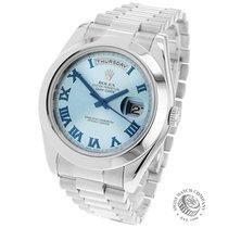 Rolex Day-Date II Platinum 41mm Blue Roman numerals United Kingdom