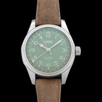 Oris Big Crown Pointer Date Steel 36mm Green United States of America, California, Burlingame