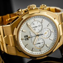 Vacheron Constantin Yellow gold Automatic White No numerals 42mm pre-owned Overseas Chronograph