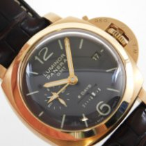 Panerai Luminor 1950 8 Days GMT Rose gold 45mm Black Arabic numerals